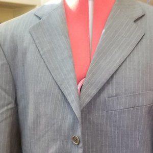 💖Yves Saint Laurent Men's Grey Pinstripe Blazer